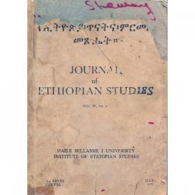 Journal of Ethiopian Studies Vol.IX No.2(June 1971)